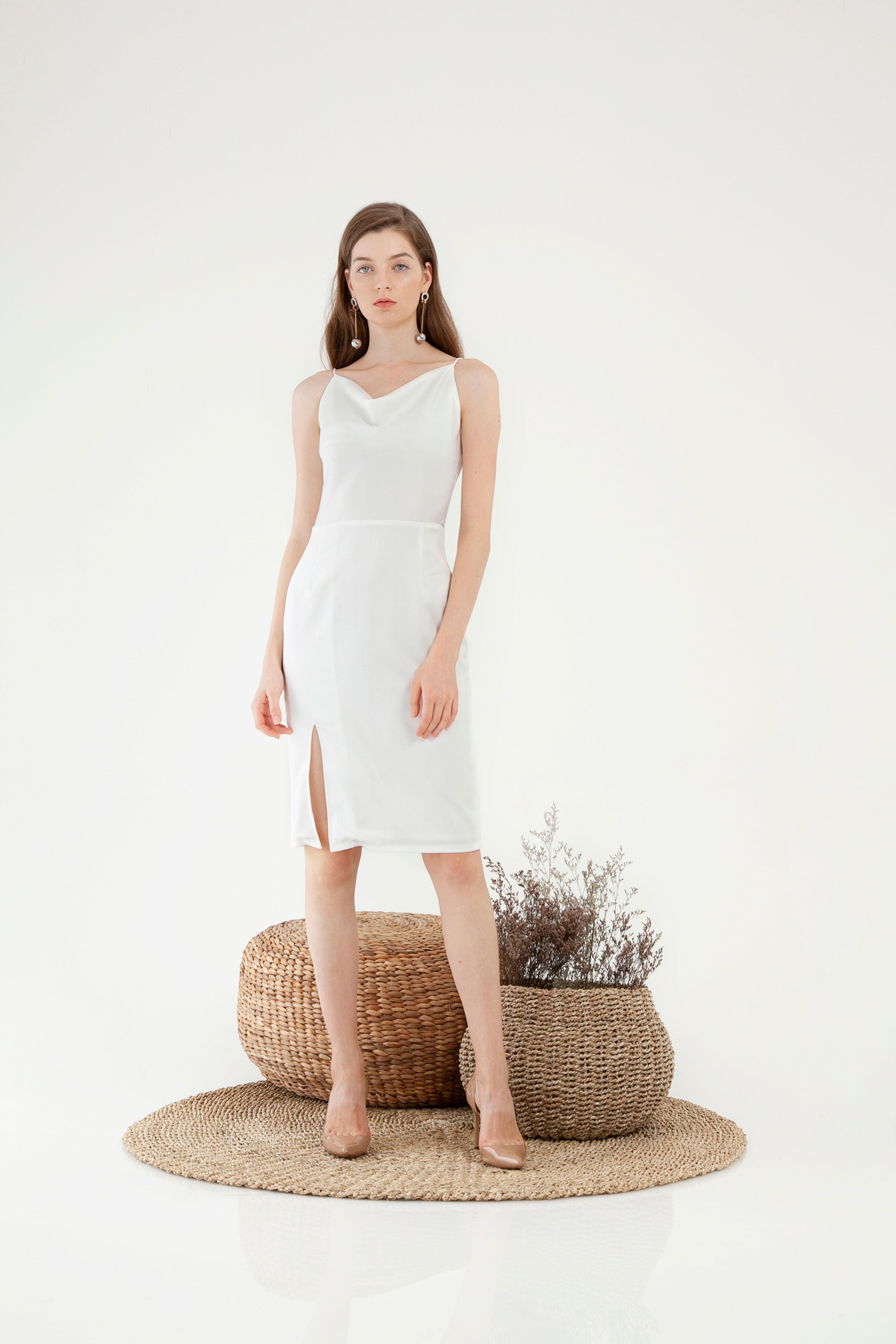 Drapery Slit Dress
