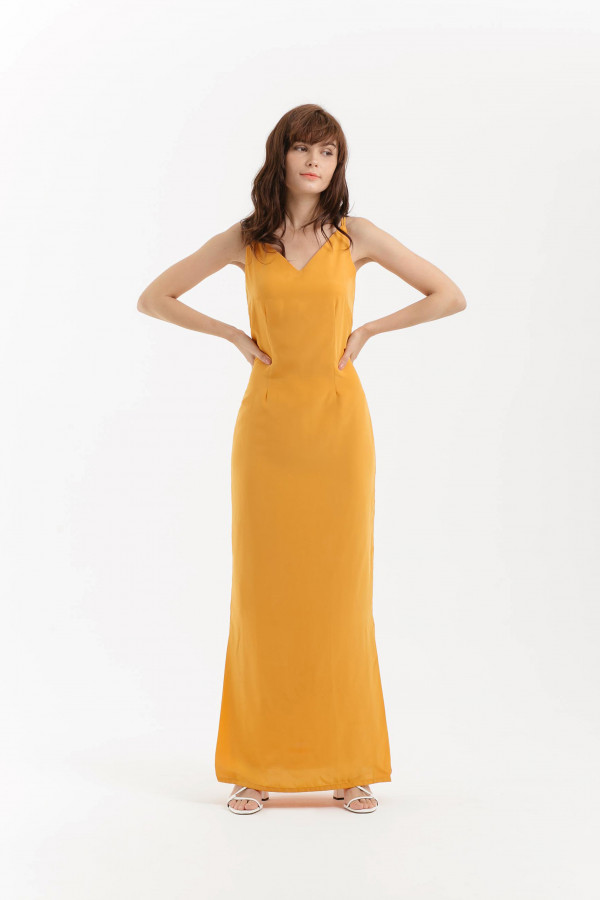 Cross Strap Back Maxi Dress
