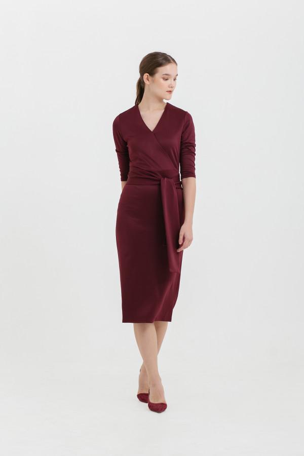 Scuba Belted Midi Dress