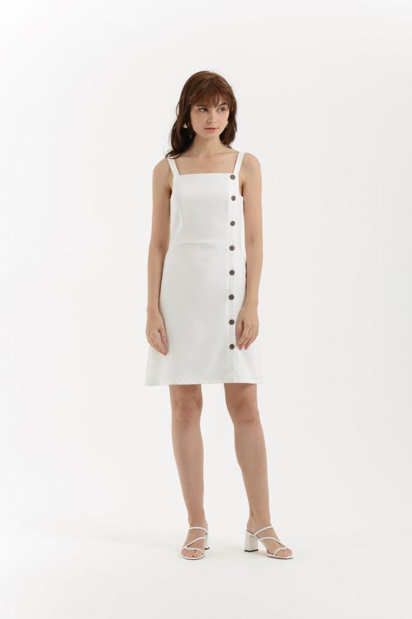 Side Button Dress