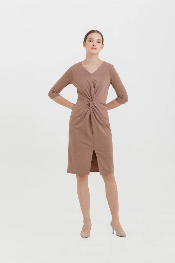 Twisted Scuba Dress