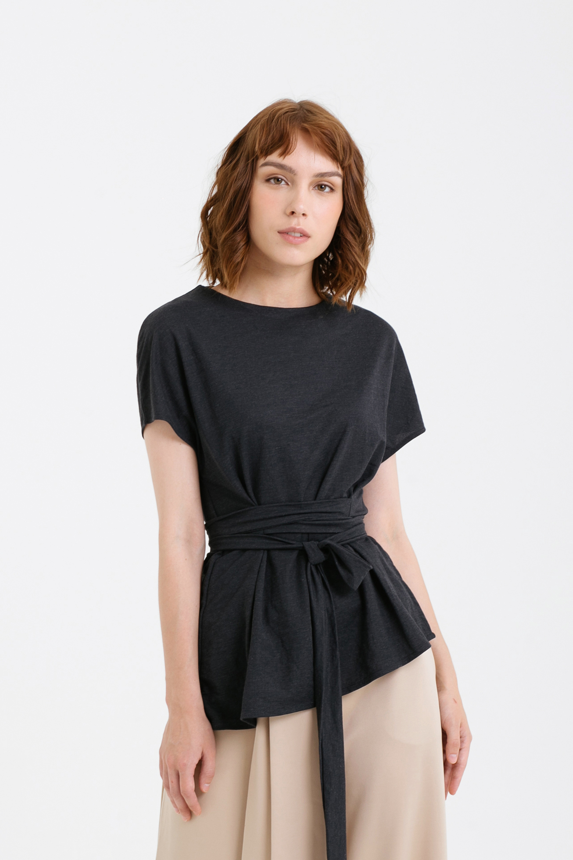Asymmetric Hem Tied Top