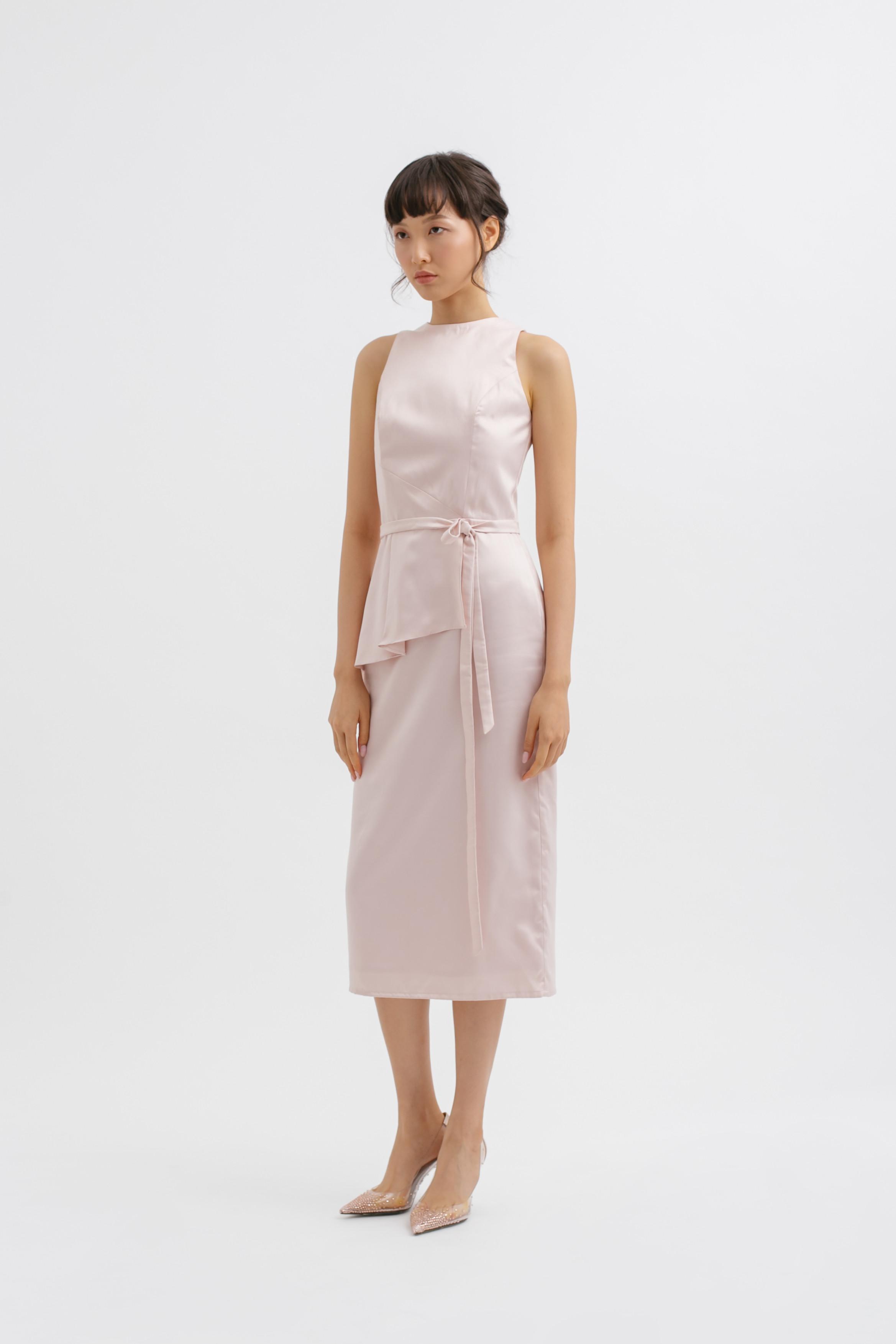 Halter Neck Tied Midi Dress