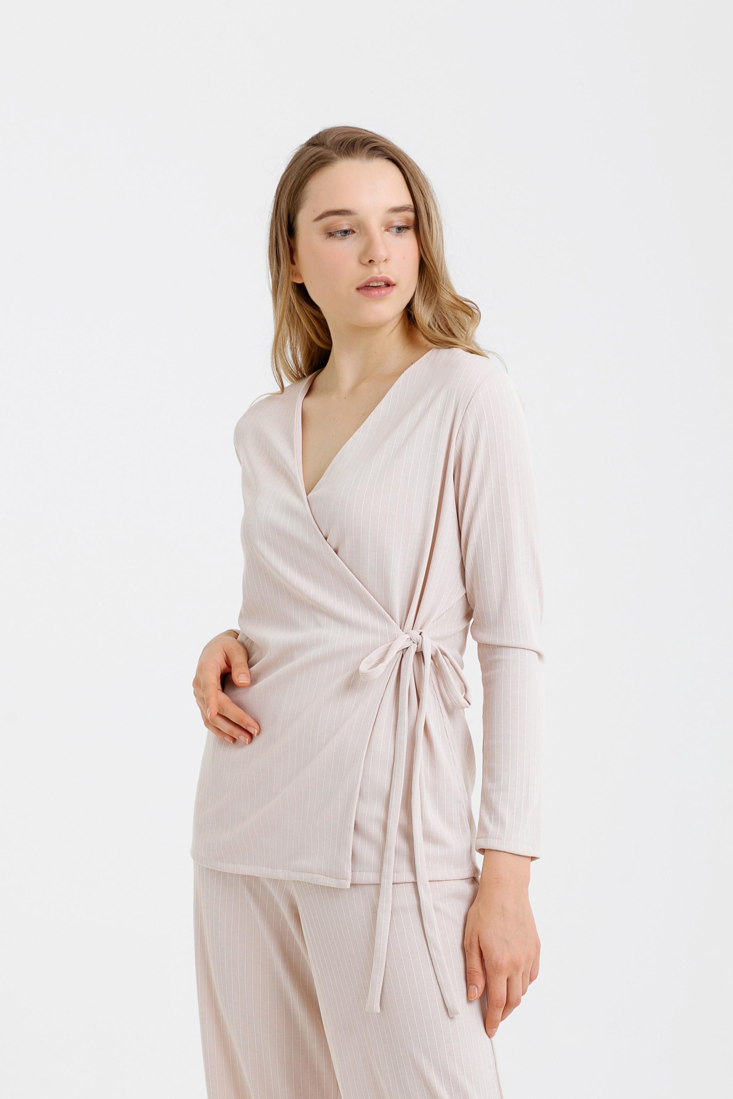 Ribbed Knit Kimono Top/Outer