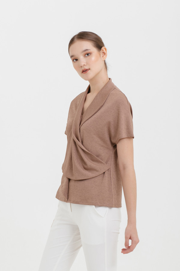 Drapery Collar Top