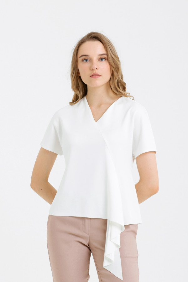 V Neck Drapery Top
